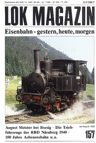 Lok Magazin 157 · Juli/Aug. 1989
